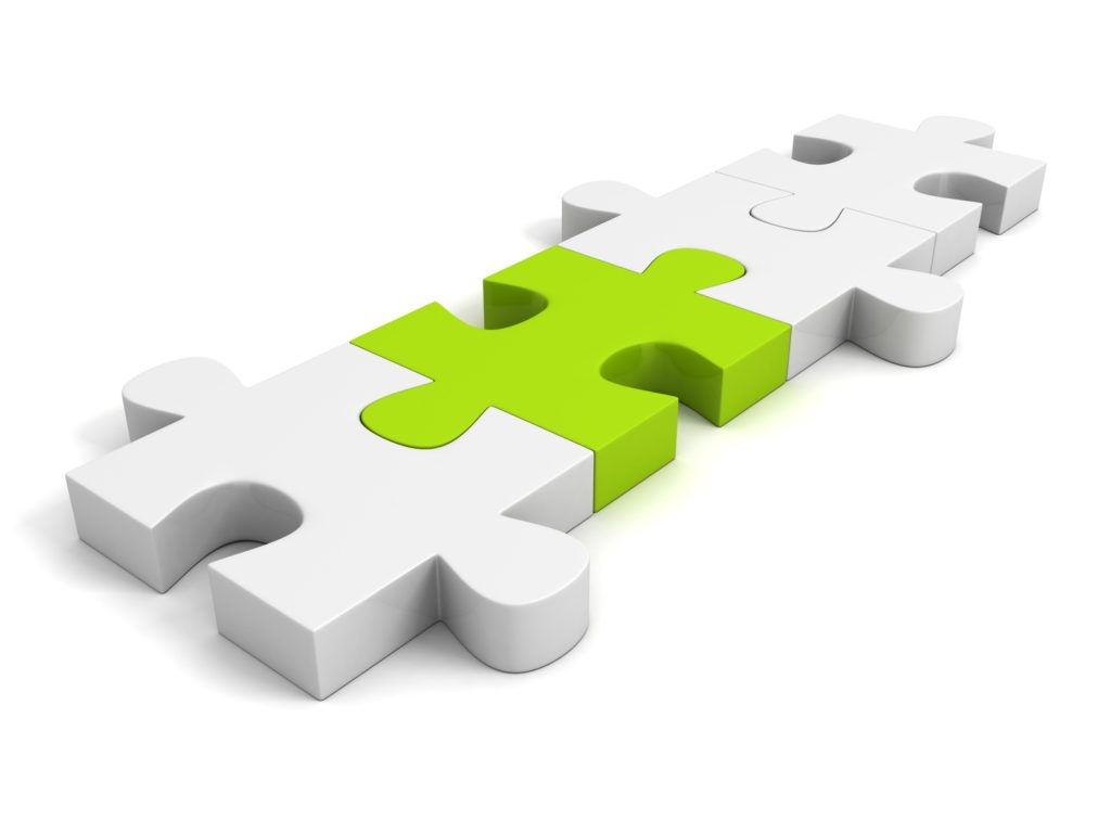 mediacja - Obrazek przedstawia połączone puzle.